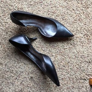 Nine West Leather Kitten Heels